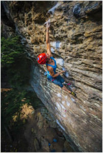Rock climbing in the red river gorge, Kentucky