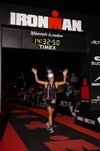 Anne stoked at the finish line!