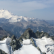 view while climbing mount baker