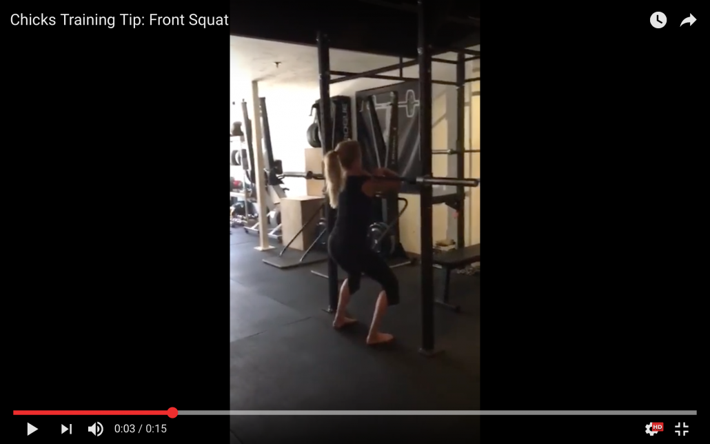 Front Squat Training for climbing