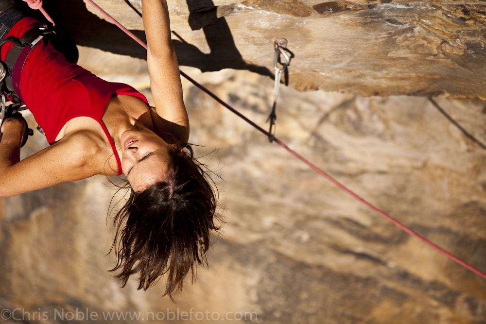 How to rock climb steep routes