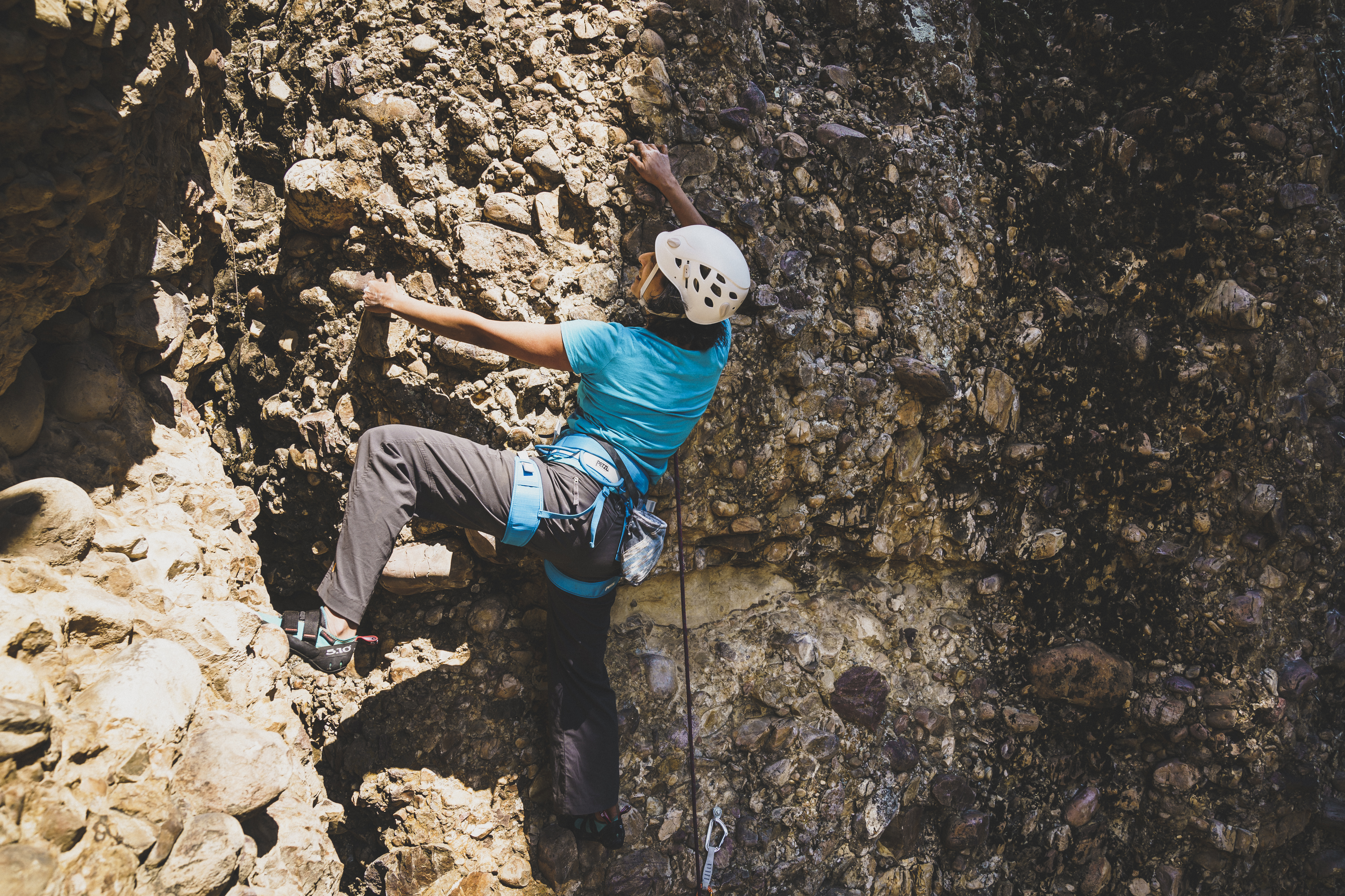Roopal Patel leading on Maple Canyon Climbing program with Chicks Climbing