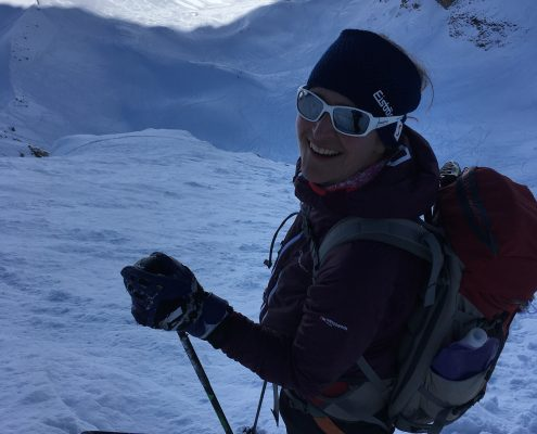ski mountaineering in La Gave France