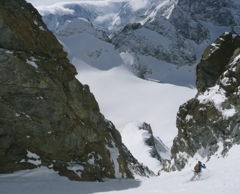 ski mountaineering in La Grave, France