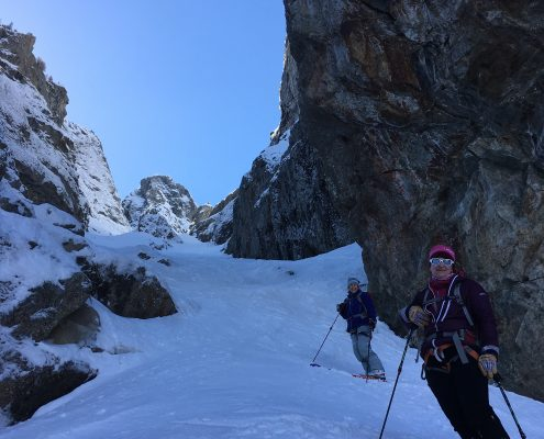 ski mountaineering in La Grave