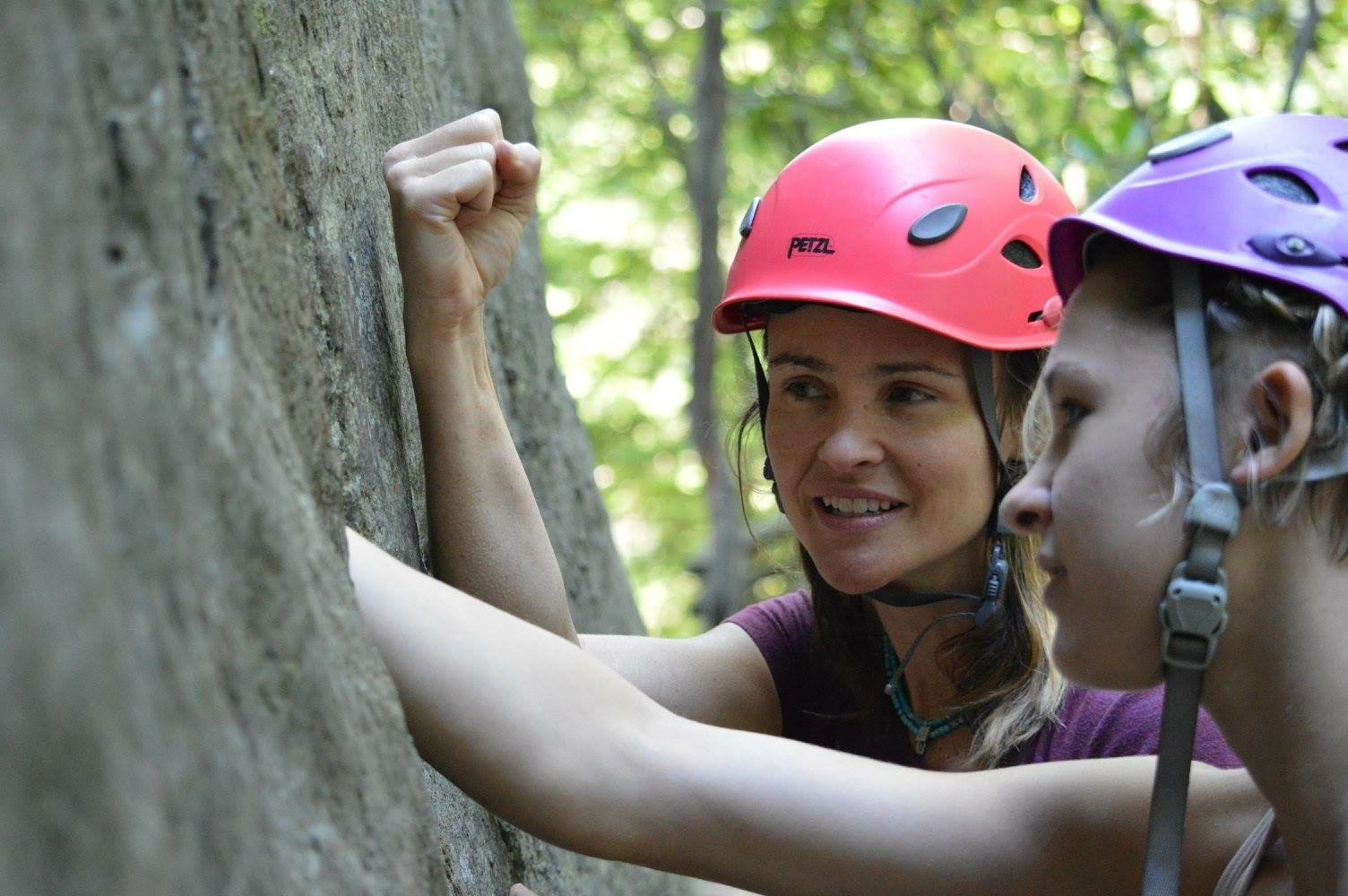 Elaina Arenz, co-owner Chicks Climbing and Skiing, mentors aspiring female climbers
