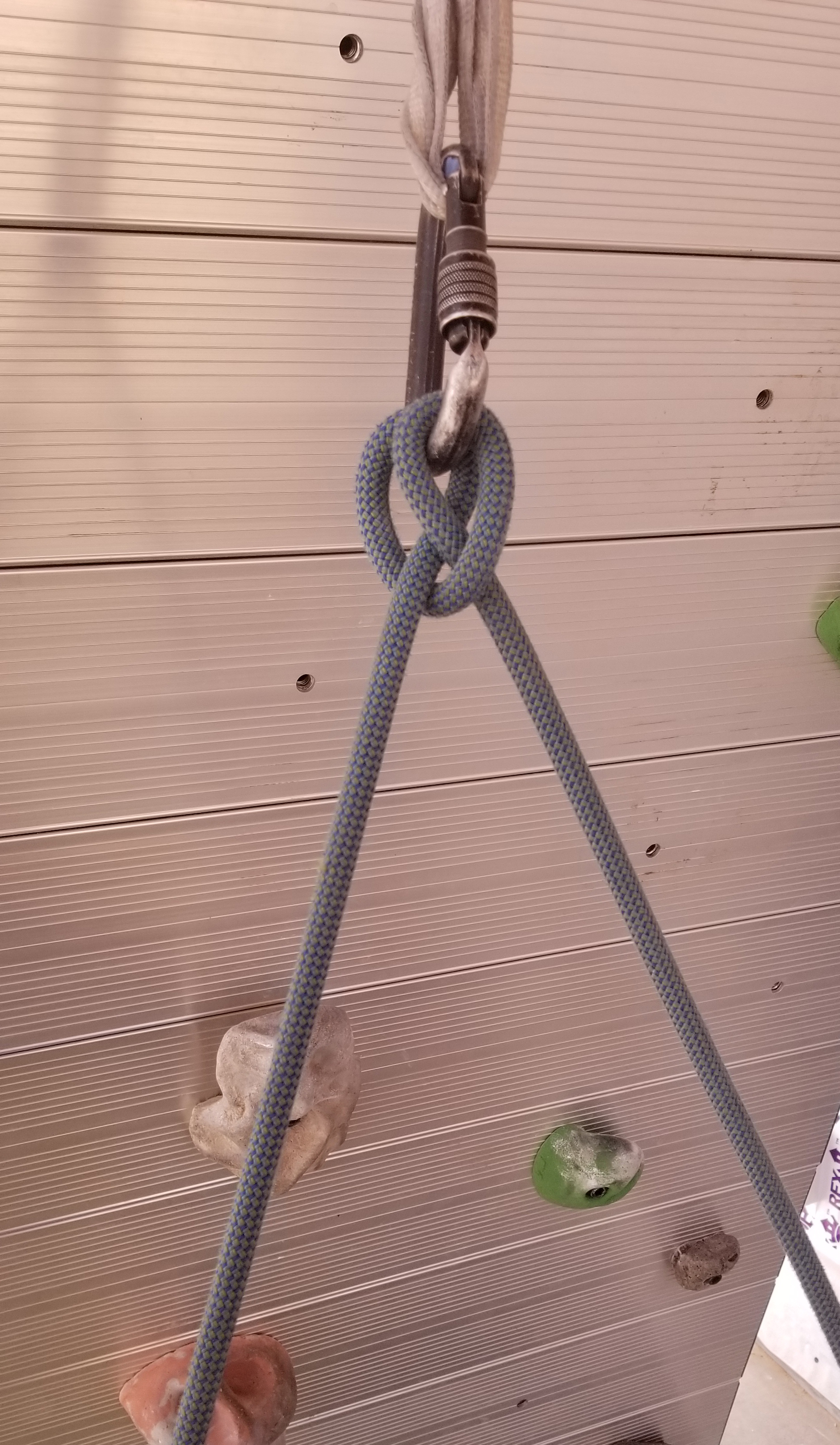Attach to the anchor with a clove hitch