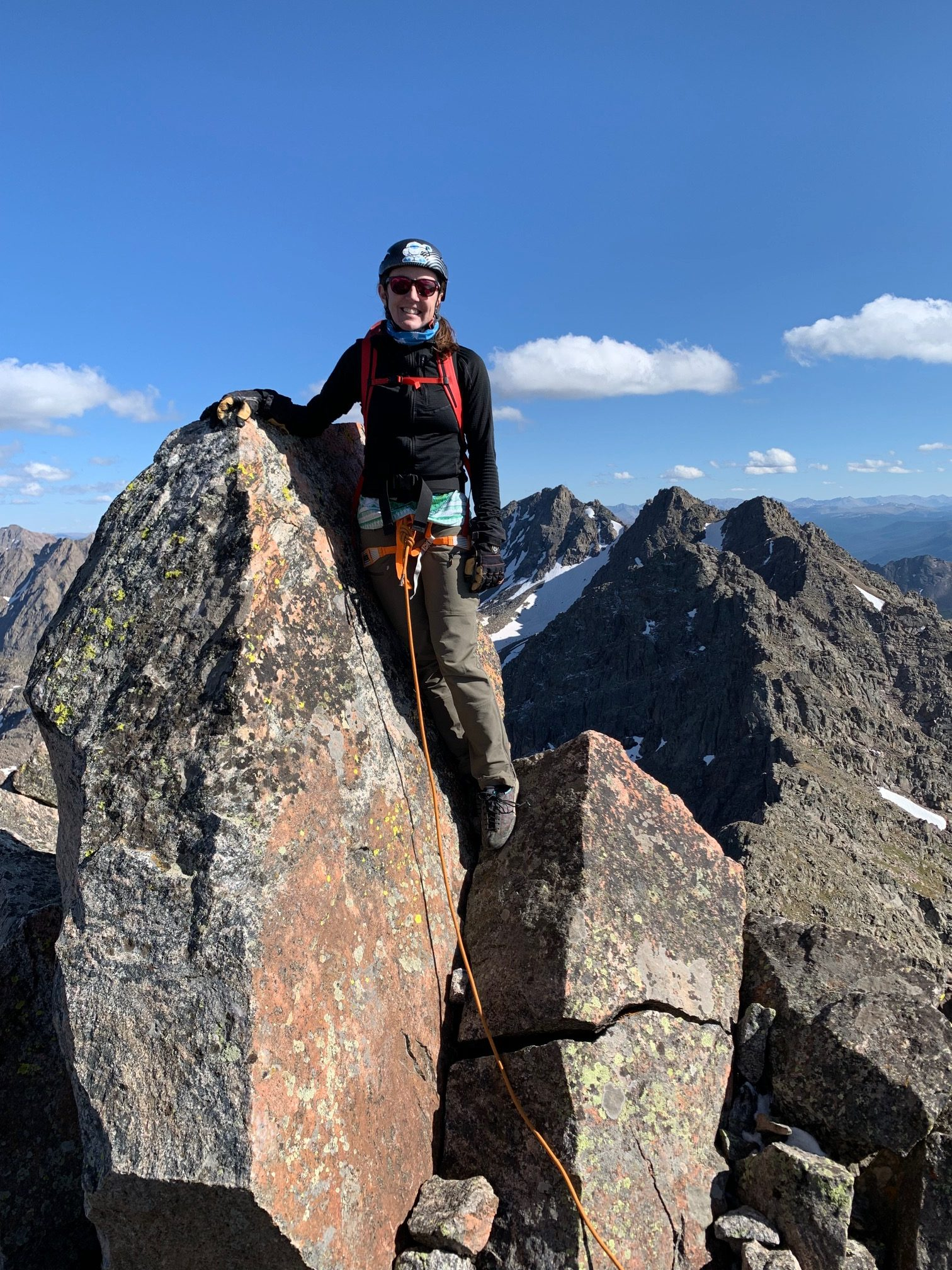 trace metcalfe on the Ripsaw Ridge in the Gore Range, Rocky Mountains, Colorado