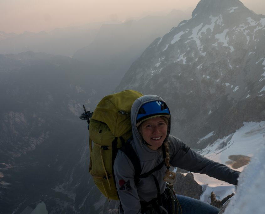 Alana Chapko alpine climbing in the North Cascades, Washington