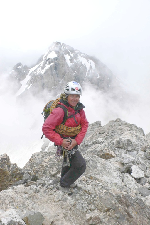 What Inspires You? Angela Hawse, Co-Owner Chicks Climbing and Skiing working on the Grand Teton, Grant Teton National Park, WY. ©Angela Hawse Collection