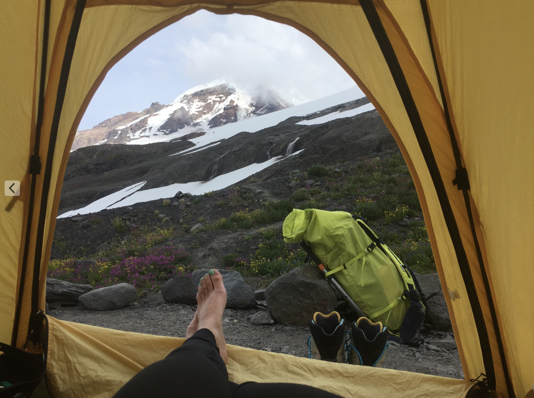 Now, its like this. Remembering the view from tent on Mt Baker