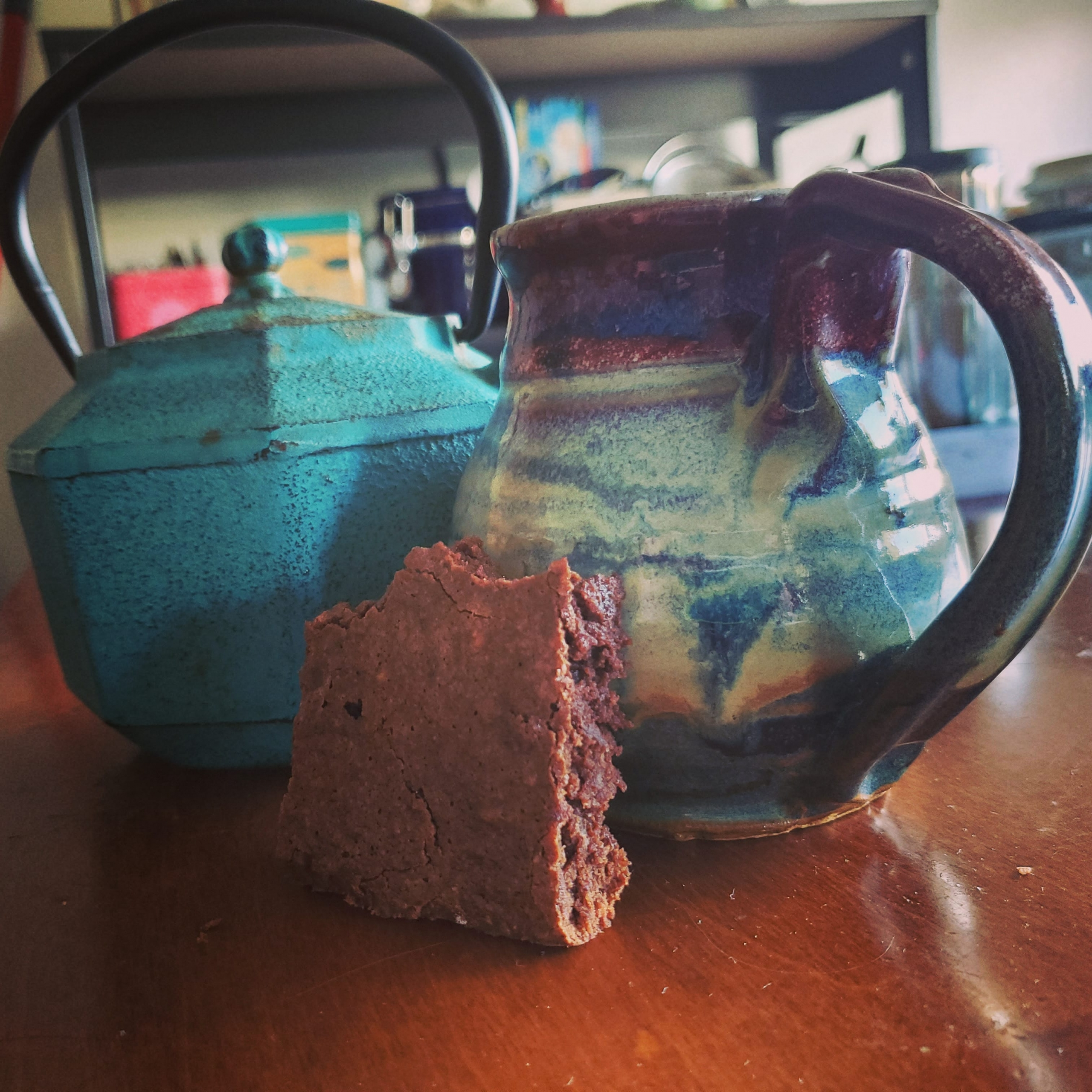 Coffee and Brownie during isolation