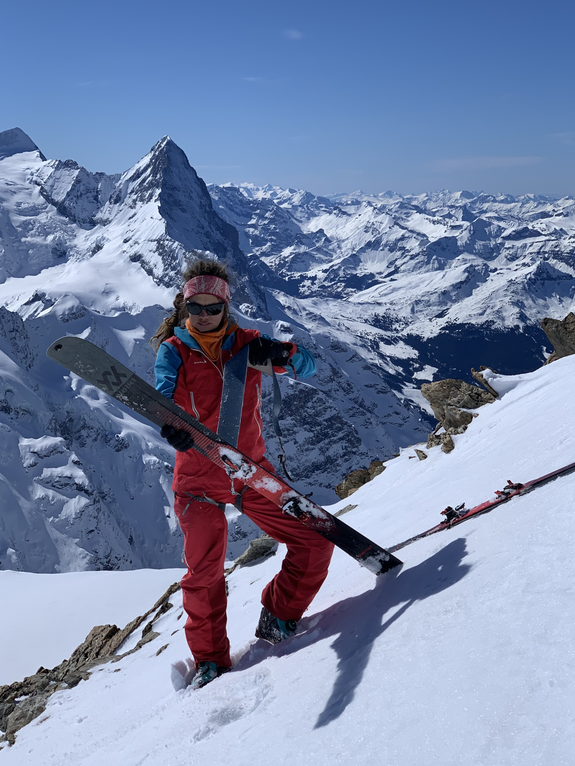Mammut Athlete and Mountain Guide, Caro North, in front of the Eiger. ©Karen Bockel.